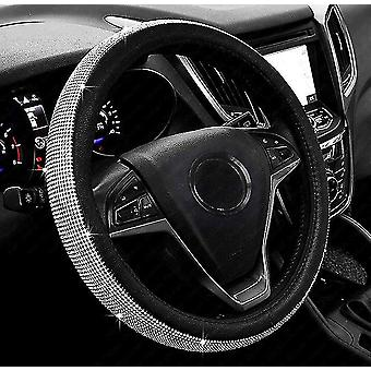 New Diamond Leather Steering Wheel Cover With Crystal Rhinestones