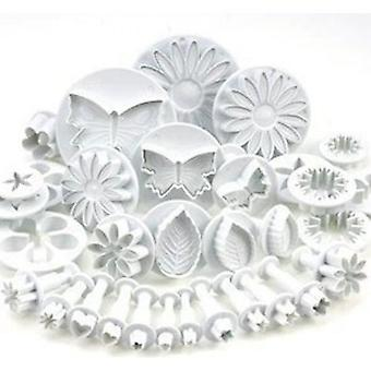 Ast Set Of 33 Cookie Cutter Cake Decorating Utensils With Leaf Pushers And Various Shapes