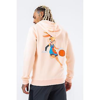 Hype Mens Krabbel Logo Lola Bunny Space Jam Pullover Hoodie