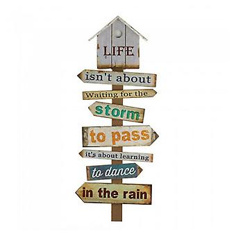 Accent Plus Dance in the Rain Wood Wall Decor, Pack of 1