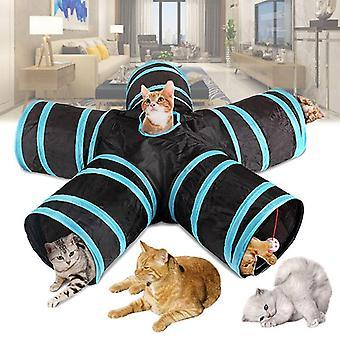 5 otworów Składany tunel dla kota Indoor Outdoor Pet Training Interaktywna zabawka dla kotów