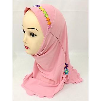 Девочки Дети Мусульмане Красивый Хиджаб Исламский Арабский Шарф Шали
