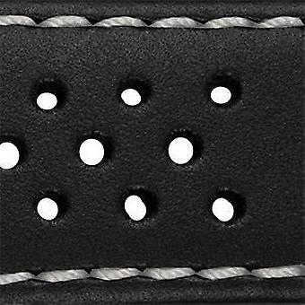 Ремешок из телячьей кожи роскошный перфорированный дизайн от 18 мм до 24 мм пряжка из нержавеющей стали