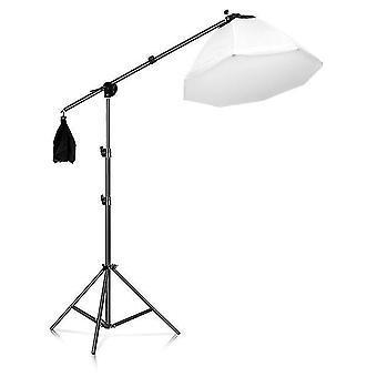 Statyw do softbox light stand photo studio 2m z 1,4m ramieniem wysięgnika elastyczny worek z piaskiem podtrzymujący