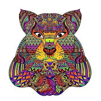 Painted Bear Jigsaw Puzzle Piece Spiel für Kinder und Erwachsene(A4)