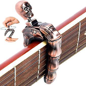Ghost Skull Finger Guitar Capo Clamp pour guitare, basse, ukulélé