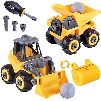 Boys Tear Down Construction Truck Vehicle Assembly Game 3, 4, 5, 6, Birthday Gift