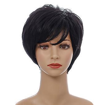Brand Mall peruukit, pitsi peruukit, realistinen pörröinen viisto lyhyt tukka