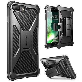 iPhone 7 Plus Case,i-Blason Transformer Case with Holster Cover Case with Clip-Black