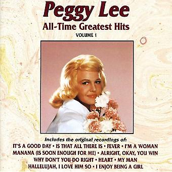 Peggy Lee - Peggy Lee: Vol. 1-All-Time Greatest Hits [CD] USA import