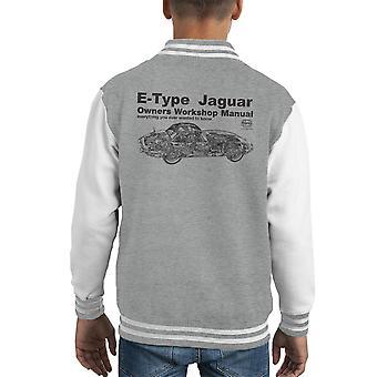 Haynes Owners Workshop Manual Jaguar E Type zwart Kid's Varsity Jacket