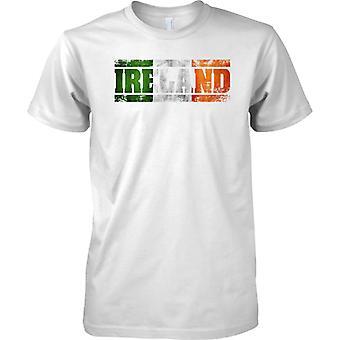 Irland-Grunge Name Markierungsfahne Effekt - irische Trikolore - T-Shirt für Herren
