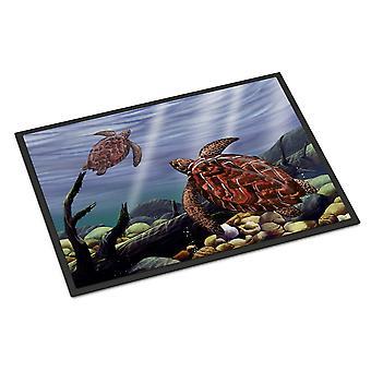 キャロラインズ宝物 PTW2042JMAT ウミガメ屋内または屋外マット 24 × 36