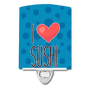 Carolines Treasures  BB8811CNL I Love Sushi Ceramic Night Light