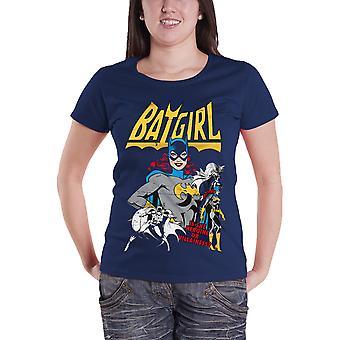 Batman T Shirt Batgirl Hero Or Villain new Official Womens Skinny Fit Navy