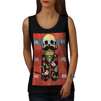 Skull Skeleton Women BlackTank Top | Wellcoda