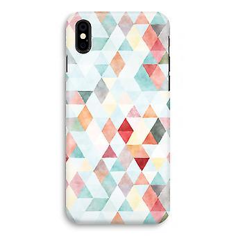 فون X كامل طباعة القضية (لامع)-باستيل مثلثات ملونة