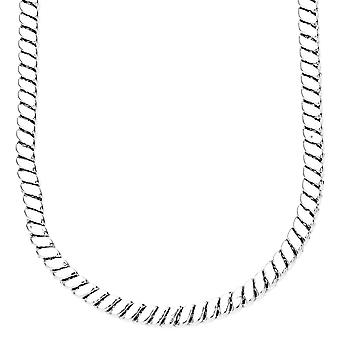 Iced out bling SQUARE chain - 5mm silver