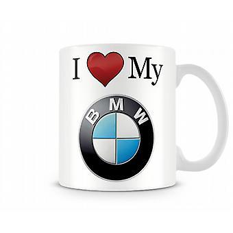 Rakastan oma BMW painettu muki