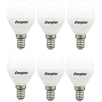 6 X Energizer LED GLS Daylight BulbSES/E14 Screw Cap 5.9w = 40w 520lm Daylight[Energy Class A+]