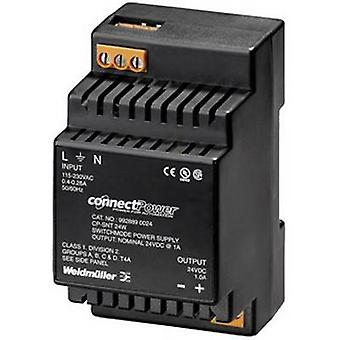 Weidmüller CP SNT 24W 24V 1A Rail mounted PSU (DIN) 24 V DC 1 A 24 W 1 x