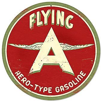 Voando de gasolina réplica aço sinal 360Mm Diâmetro