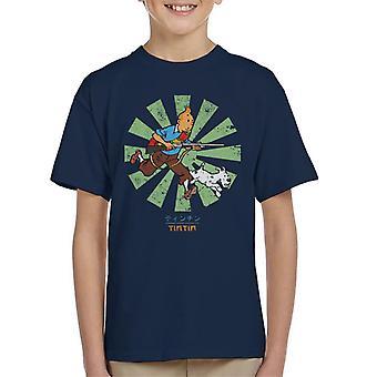 Tintin Retro japanska Kid's T-Shirt
