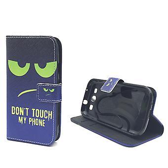 Handyhülle Tasche für Handy Samsung Galaxy S3 / S3 Neo Dont Touch My Phone Grün