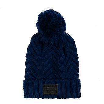 Animal Irving Bobble Hat in Deepest Blue
