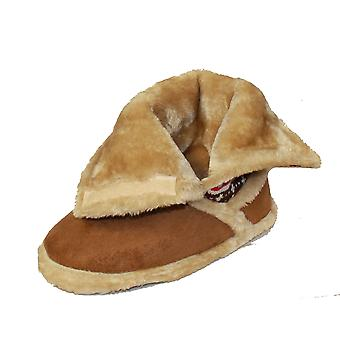 Coolers Womens Microsuede and Nordic Knit Plush Boot Slipper