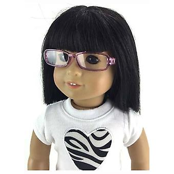 Rectangle Frame Glasses - Purple for 18 Inch Dolls