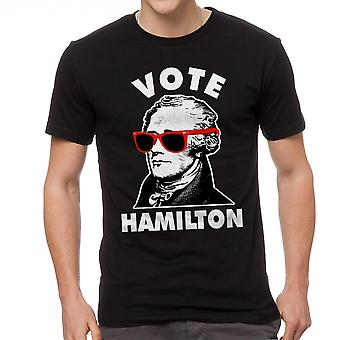 Cool Vote Alexander Hamilton Glasses Graphic Men's Black T-shirt