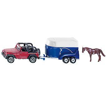SIKU 1651 Jeep + Veetrailer