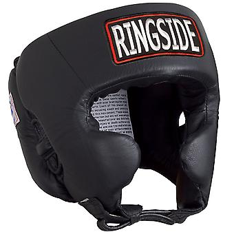 Ringside Competition Boxing Headgear With Cheeks - Black
