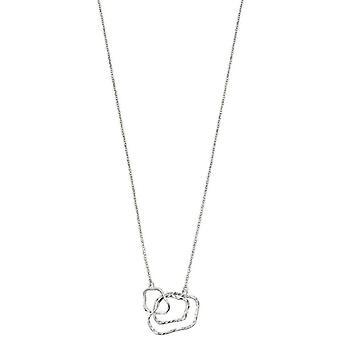 Elementen zilveren organische overzicht halsketting - zilver