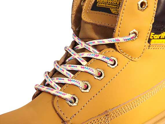 Light Multi Coloured Hiking Boot Laces