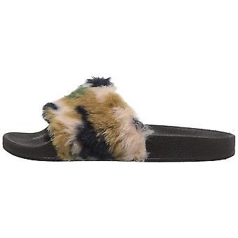 Qupid Womens BooBoo Open Toe Casual Slide Sandals
