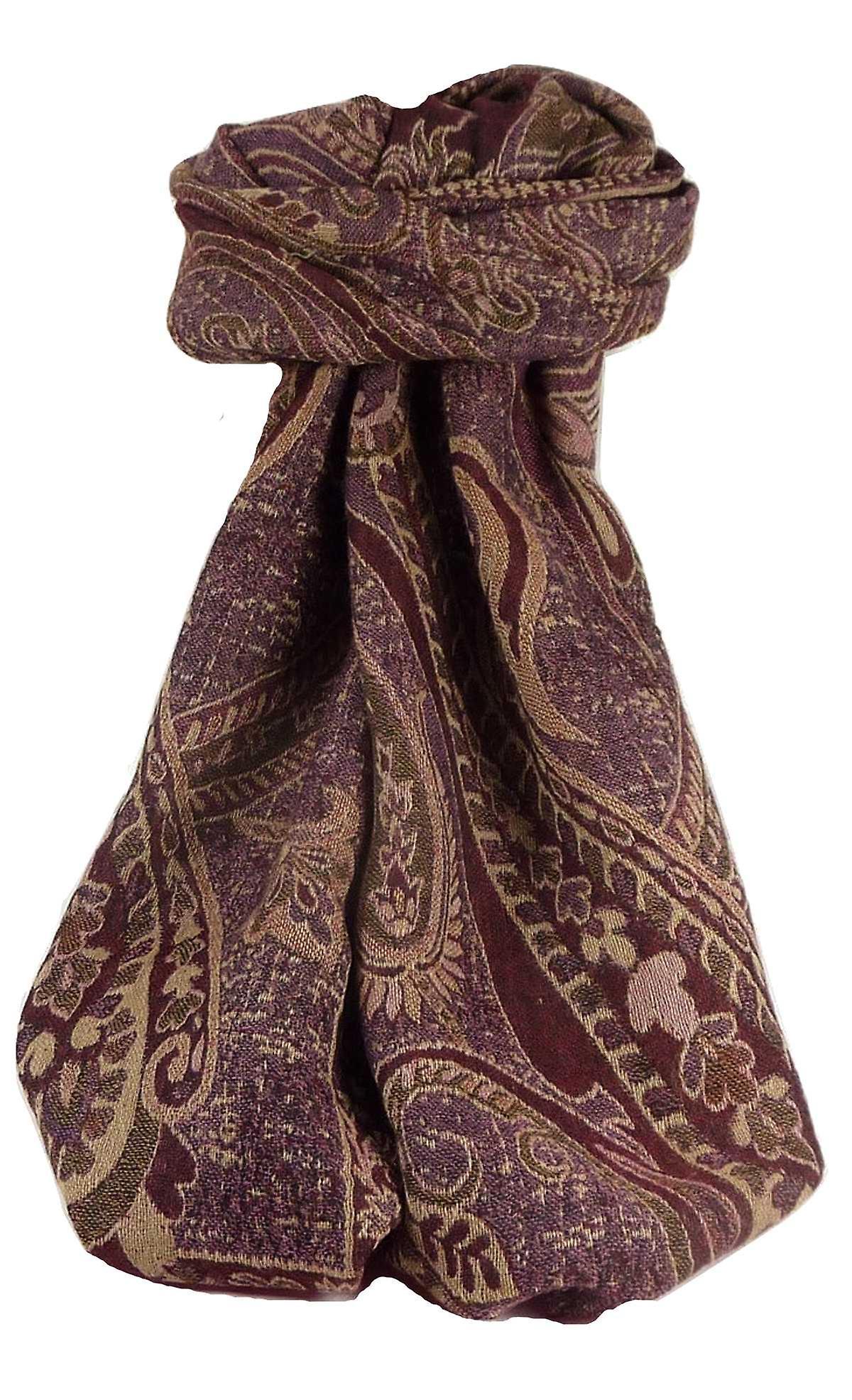 Muffler Scarf 2083 in Fine Pashmina Wool Heritage Range by Pashmina & Silk