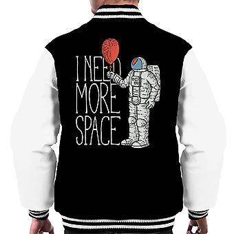 I Need More Space Astronaut Balloon Men's Varsity Jacket