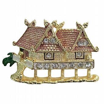 بروش دار الفن بيوتر الذهب رسمت فريدة جميلة مزينة بروش