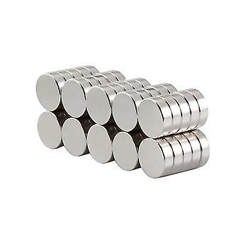 Magneti al neodimio | Pratico | Extra forte disco magnetico. Magnete del frigorifero | Forti magneti per la casa | 5 pezzi | 10 x 3 mm