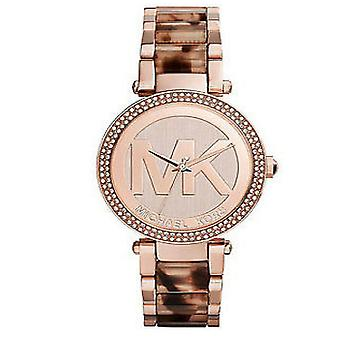 Michael Kors Ladies Womens Parker Rose Gold Wrist Watch MK6190