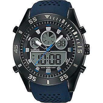 Analogowo cyfrowy zegarek LORUS kwarc mężczyzn z Pasek silikonowy R2337LX9