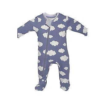 ZippyJamz 有機赤ちゃん変更も容易に股下ファスナー ・ w ・寝台パジャマの足