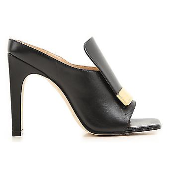 Sergio Rossi A77980magn051000 Femmes-apos;s Sandales en cuir noir