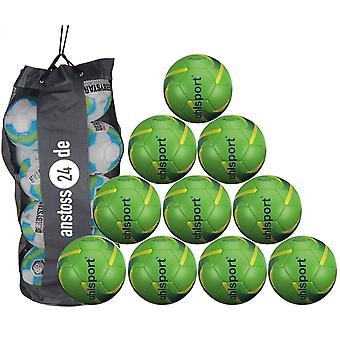 10 x Uhlsport youth ball 290 ULTRA LITE SYNERGY includes ball sack