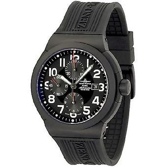 ゼノ ・ ウォッチ メンズ腕時計 RAID チタン クロノグラフ ブラック 6454TVD bk a1
