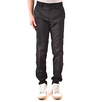 Paolo Pecora Ezbc059051 Men's Black Cotton Pants