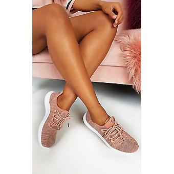 IKRUSH Womens Roman Lace Up Sock Trainer