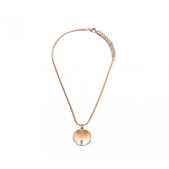 Fable Womens/Ladies Brushed Round Pendant